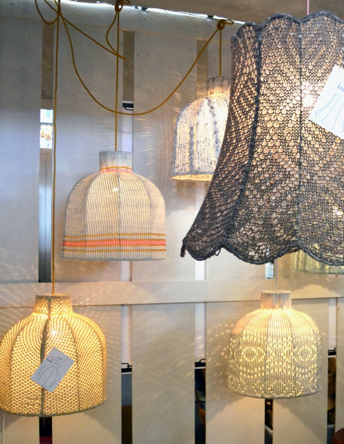 gehäkelte Lampenschirme Amsterdam Woonbeurs