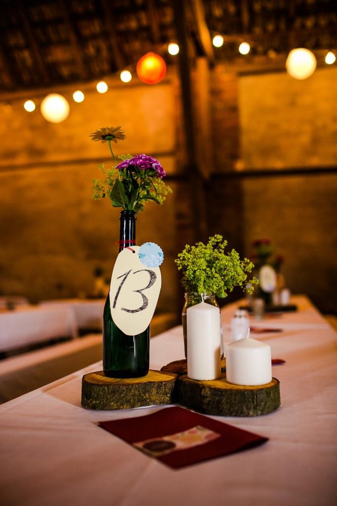 Hochzeit DIY - Centerpieces - Tischdeko günstig selbermachen