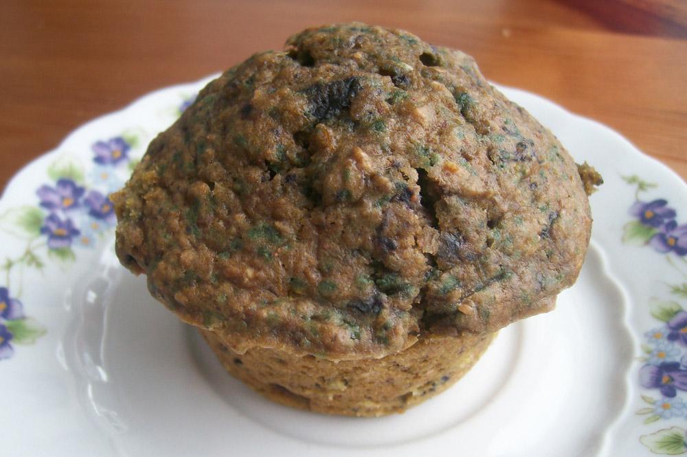 kürbis muffins mit blaubeeren