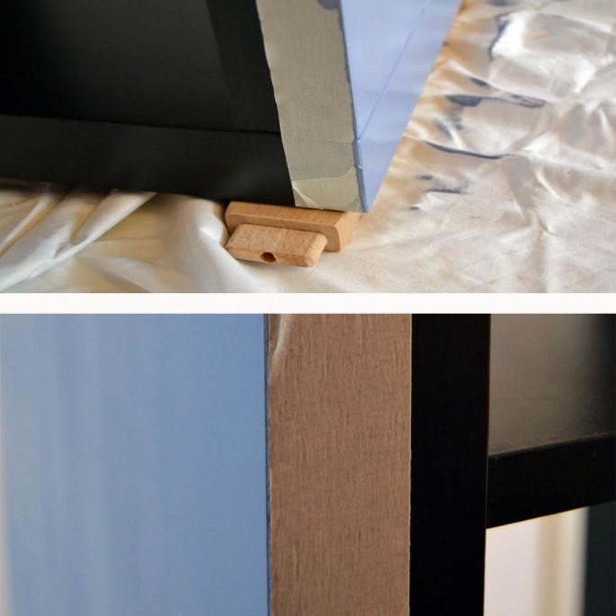 diy expedit regal lackieren ikea hack. Black Bedroom Furniture Sets. Home Design Ideas