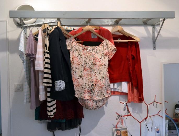 Leiter als Garderobe