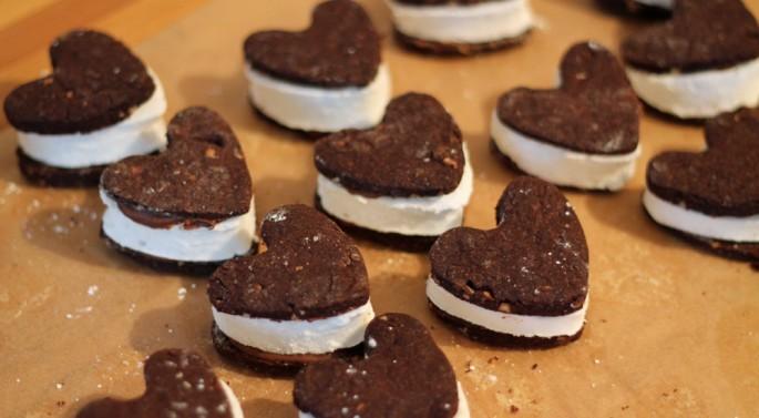 Schoko Marshmallow Kekse bauen