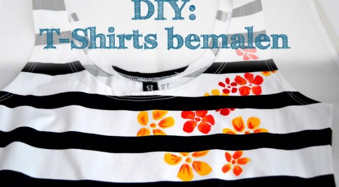 Diy T Shirts Bemalen Drei Techniken Mit Und Ohne Schablone