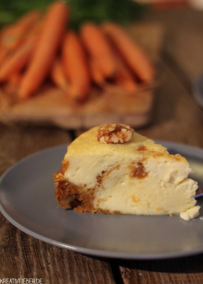 Karotten Cheesecake Stückchen