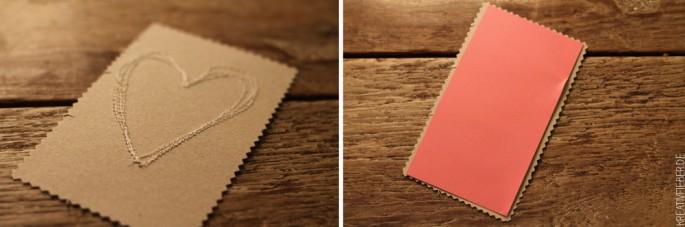 Rückseite DIY Valentinstagskarten