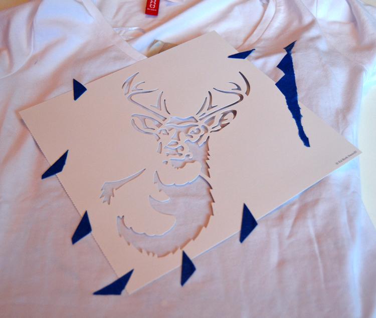 Extrem DIY: T-shirts bemalen | drei Techniken mit und ohne Schablone AB46
