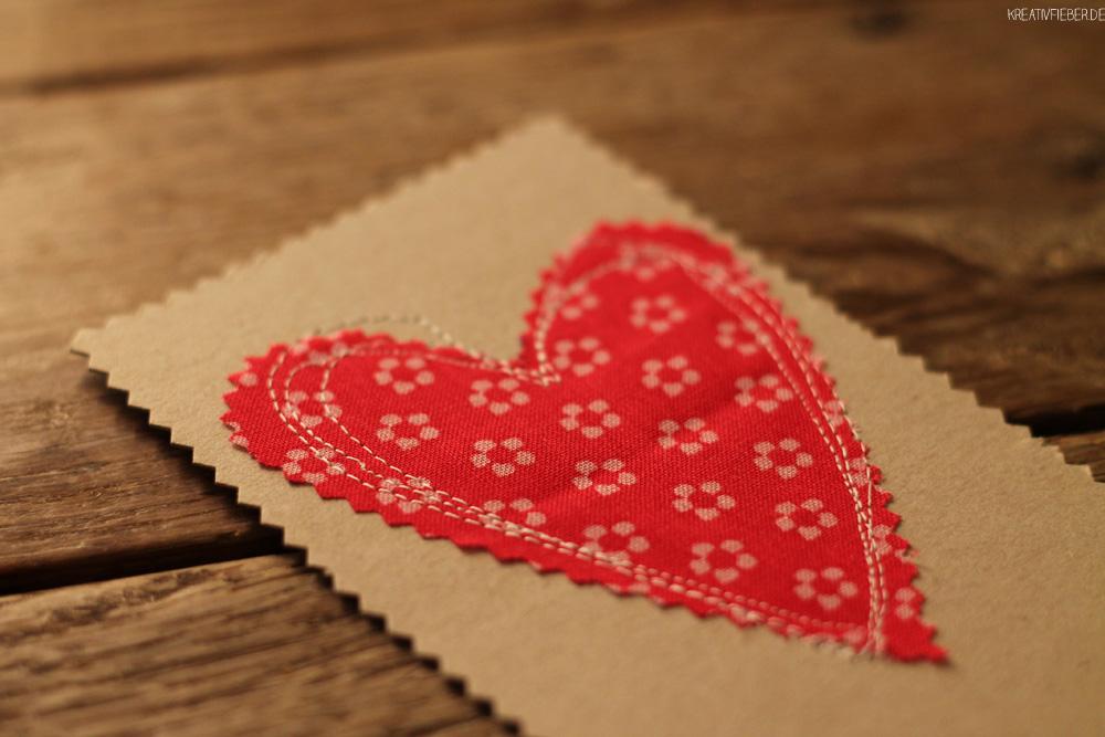 Valentinstagskarte Bastelideen