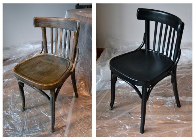 Stühle lackieren