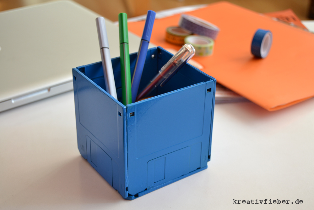 DIY: Disketten-Stiftebecher | Upcycling Tutorial