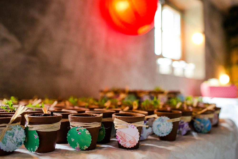 Gastgeschenke Tontöpfchen Blumensamen