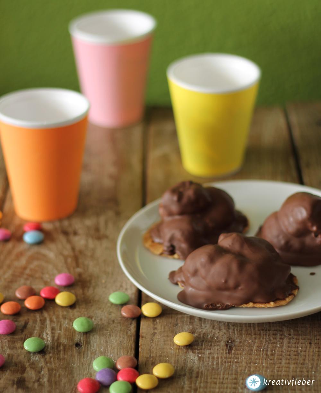 leckerschmecker schokoküsse selbermachen - kindergeburtstag