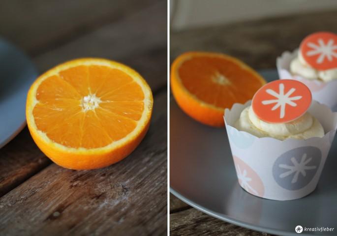 grosse Schokoladen Cupcakes mit Orangen Mascarpone Topping