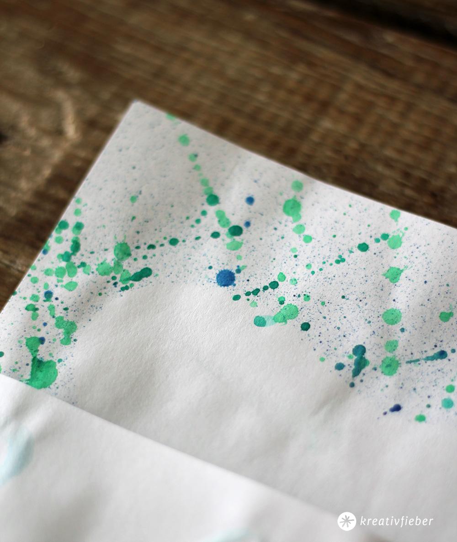 diy briefpapier selbermachen ideen mit wasserfarbe. Black Bedroom Furniture Sets. Home Design Ideas