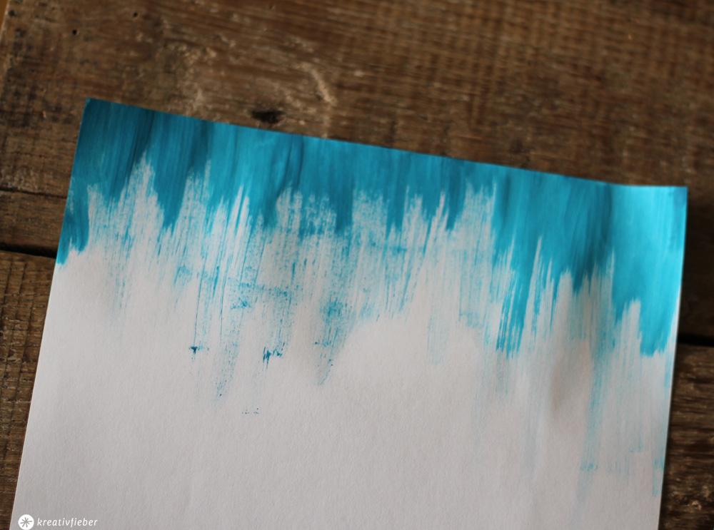 Briefpapier Gestalten : Diy briefpapier selbermachen ideen mit wasserfarbe