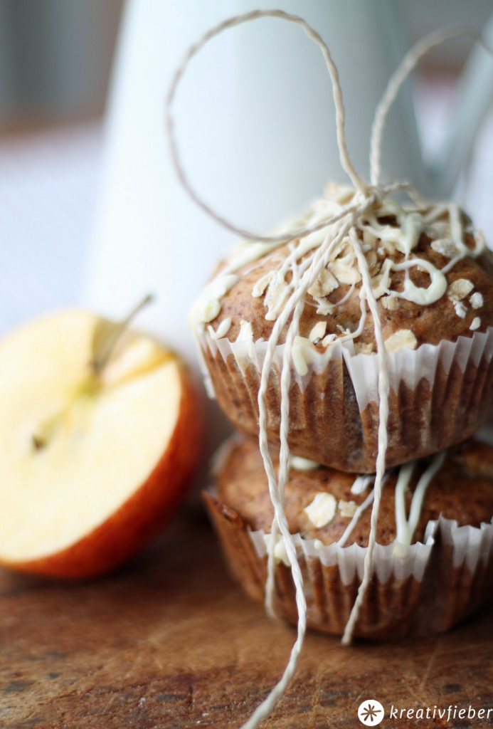 cranberry muffin mit apfel