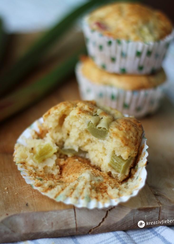 rhabarber frischkäse muffin bissen