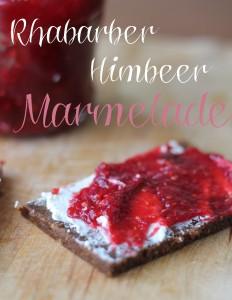 rhabarber himbeer marmelade
