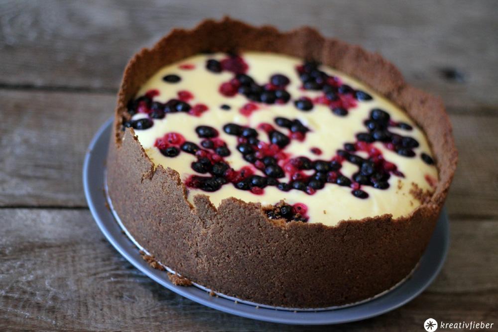 Sonntagskuchen Waldbeer Cheesecake - leckeres Käsekuchen Rezept