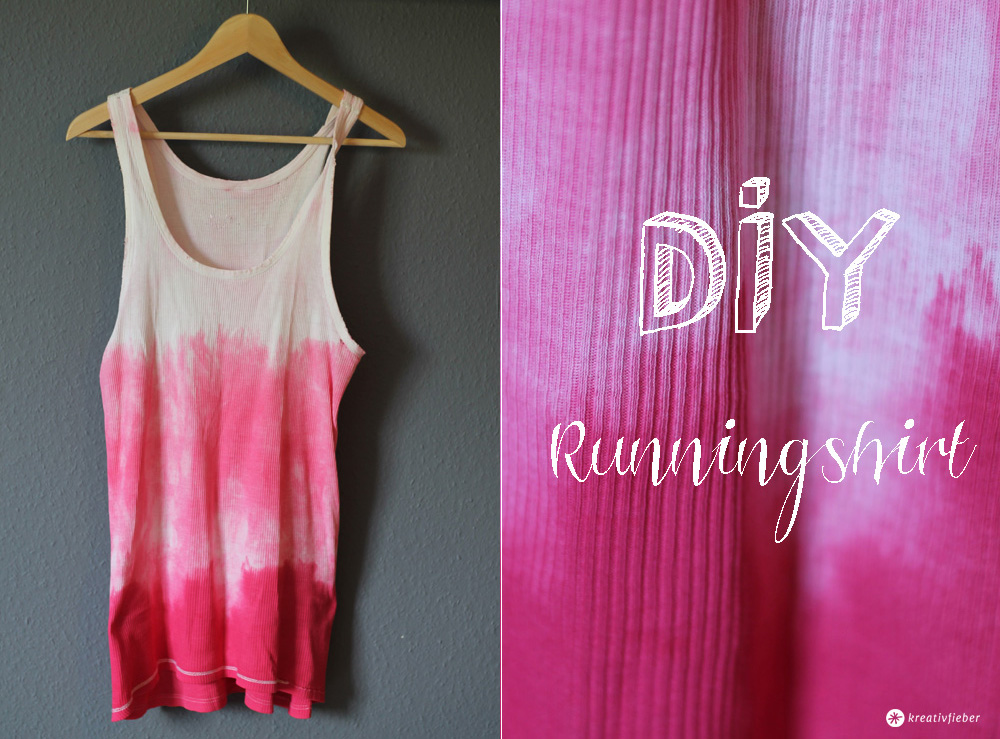 diy runningshirt t shirt f rben im ombre look batikfarben. Black Bedroom Furniture Sets. Home Design Ideas