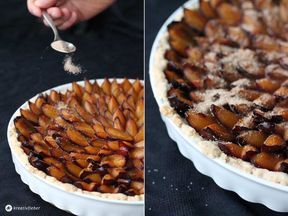 pfaumenkuchen mit zimt und zucker
