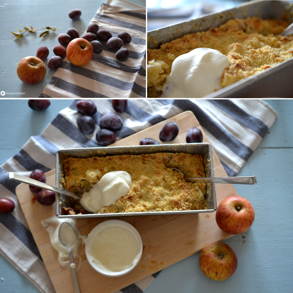apple plum crumble