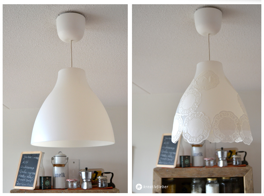 DIY Romantische Doiley Lampe