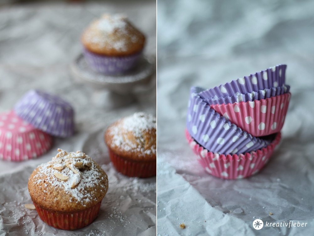 nektarinen mandel muffins backen