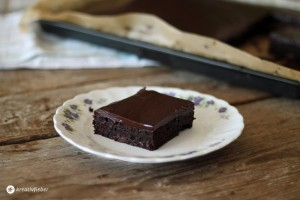 brownies mit fudge-glasur