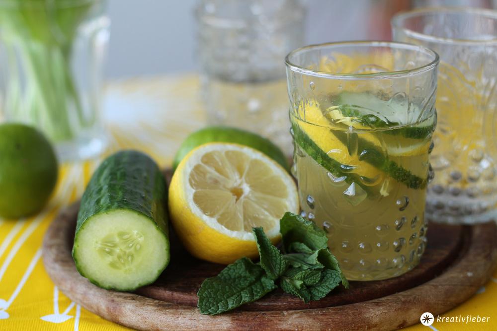 gin mit gurke und zitrone cocktail