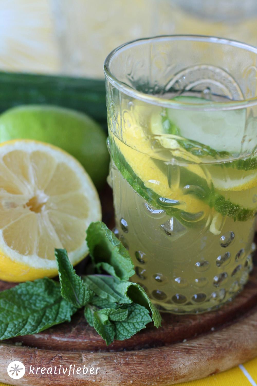 Sommercocktails Gin mit Gurke und Zitrone - Rezepte für Cocktails