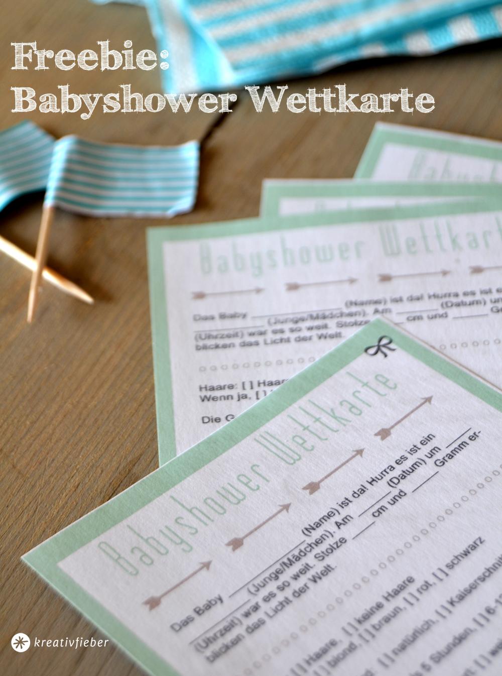 babyshower printable