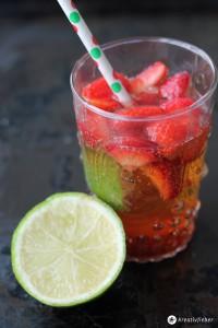 erdbeer mojito cocktail