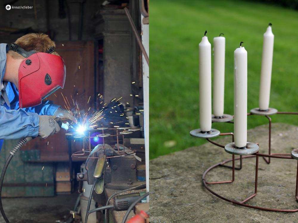 Upcycling DIY Kerzenständer schweissen