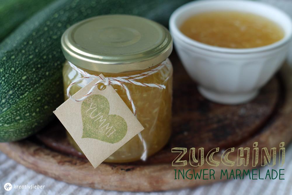 Zucchini Ingwer Marmelade Rezept