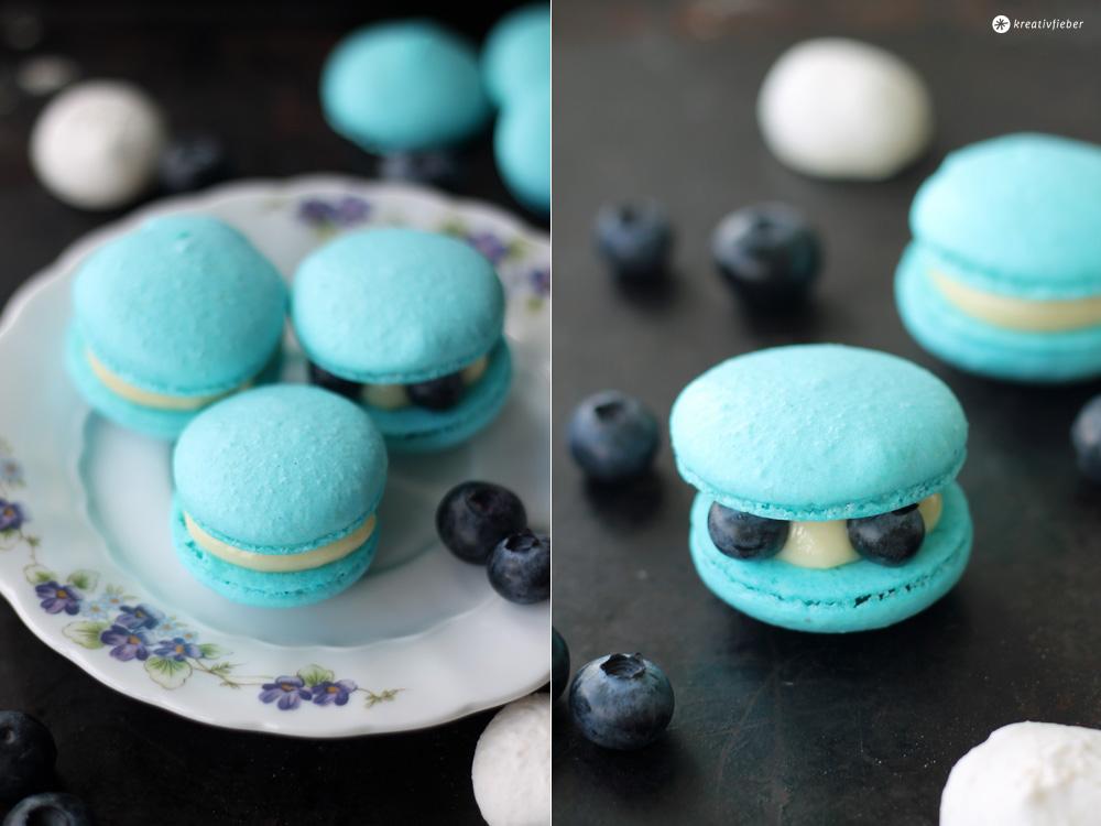 Blaubeer Macarons backen Tipps für perfekte Macarons