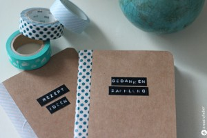 Notizbücher verschönern DIY