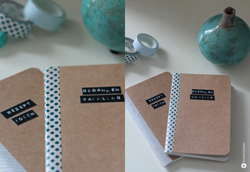 Notizbücher verschönern DIY Geschenkidee