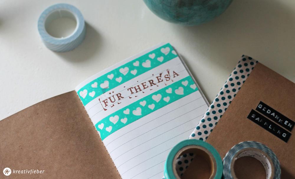 Notizbücher verschönern und verschenken
