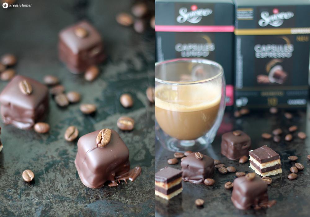 Schichtpralinen mit Kaffeegeschmack