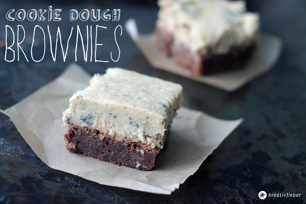 cookie dough brownies rezept