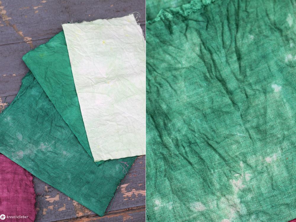 Baumwolle färben grün