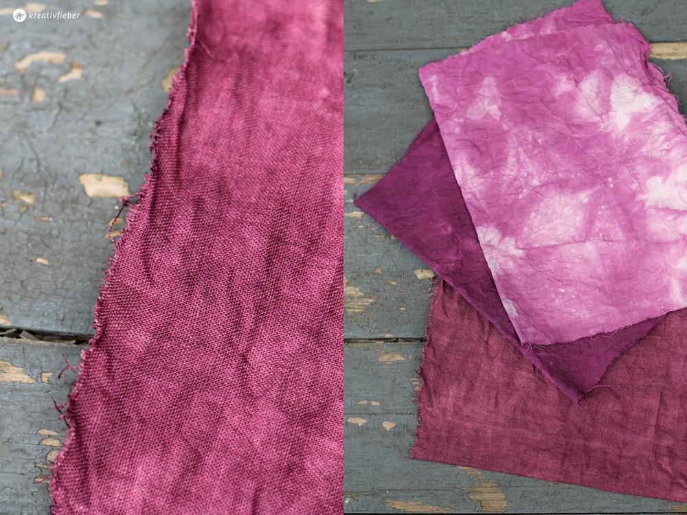 Baumwolle färben lila