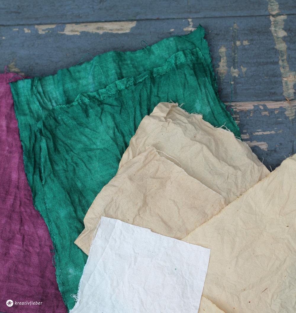 DIY Baumwollstoff färben - natürlich und mit Batikfarbe