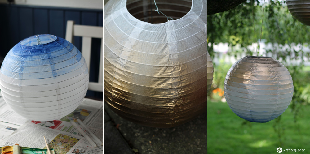 DIY Tutorial Lampions verschönern