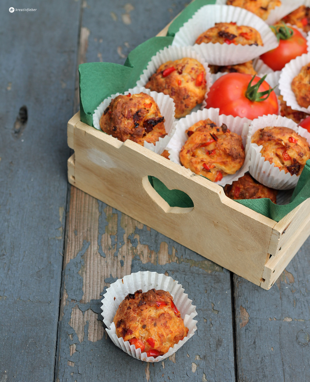 Pizza Muffins - Partysnack oder Proviant Rezept