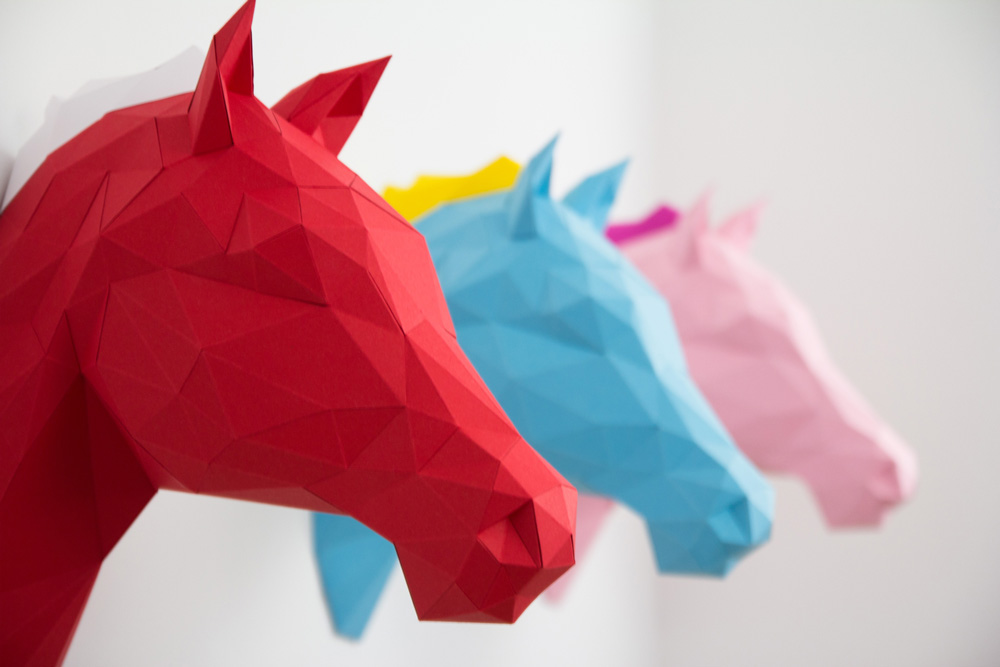 Papershape 3d origami tierk pfe - Weihnachts origami selber machen ...