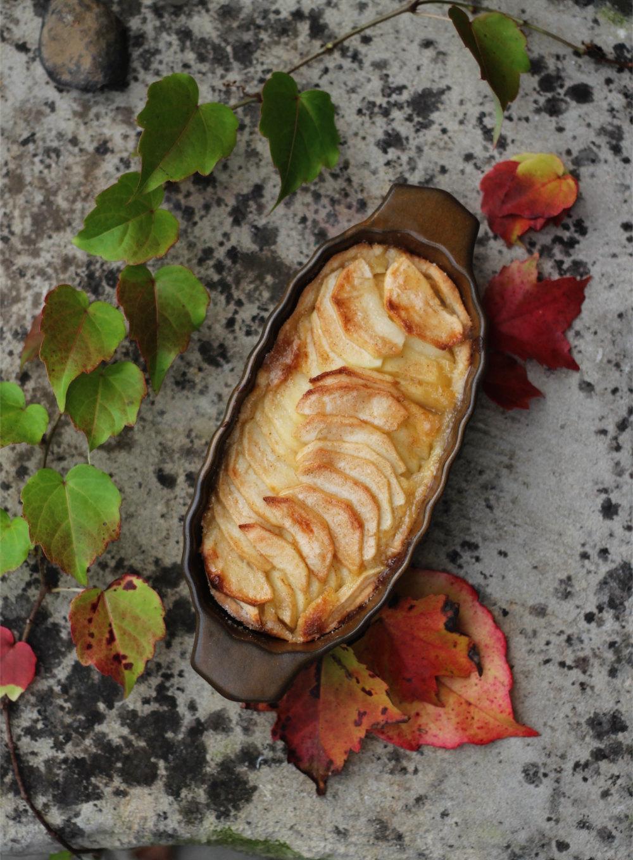 Apfel Marzipan Tarte - einfaches Rezept