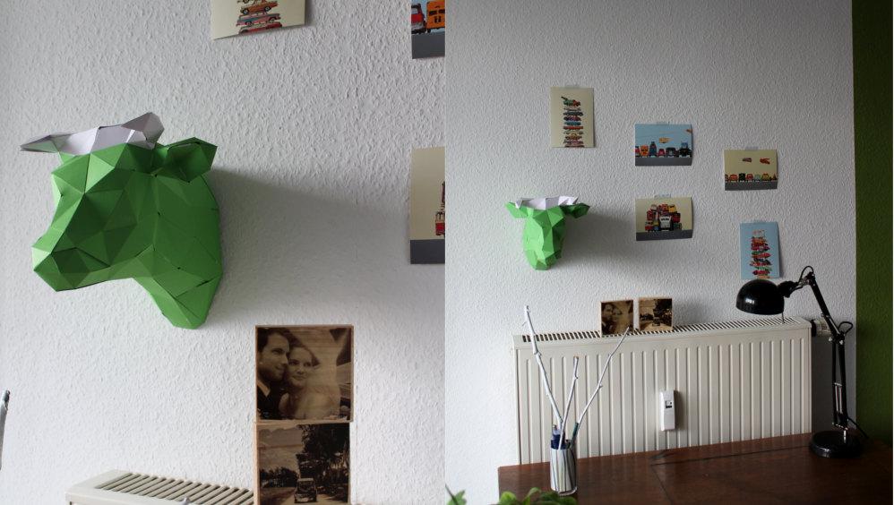 PaperShape 3D Origami Kuh DIY Set