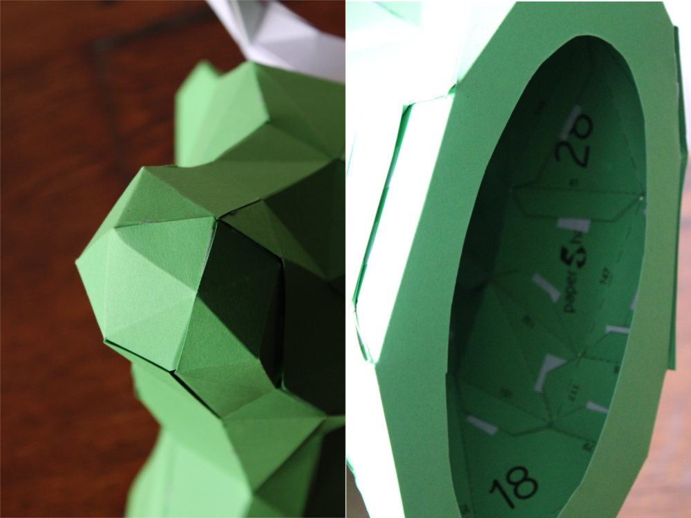 Papershape 3D Kuh Origami Details