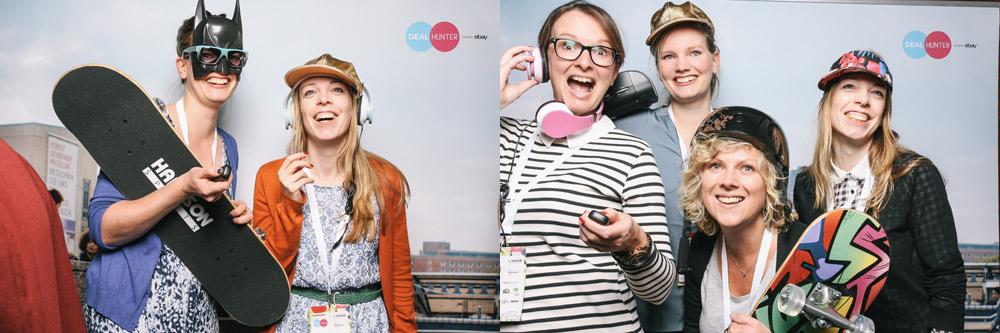 Blogst 2014 Photo Booth von Dealhunter mit Maike Kreativfieber, Jutta Kreativfieber, Nicole von die Kreativfarbrik und Mona von 180 GradSalon